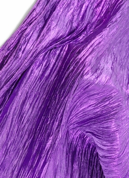 "Crinkled Satin Crepe Fabric Purple 22"" width 3 yards"