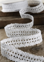 "Crochet Ribbon 1"" x 10 yards White"