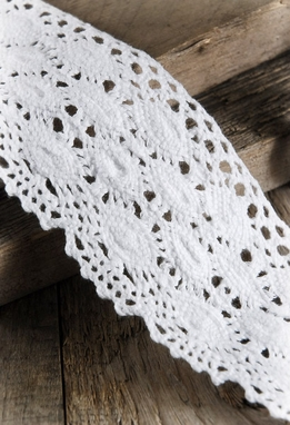 "Crochet Ribbon 2.25"" x 10 yards White"