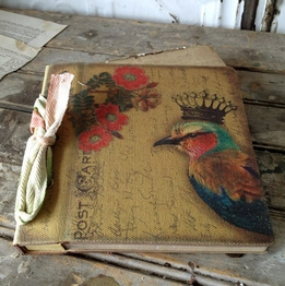 Crowned Bird Photo Album Handmade