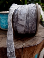 Crushed Velvet Ribbon Grey 5/8 x 11 yards