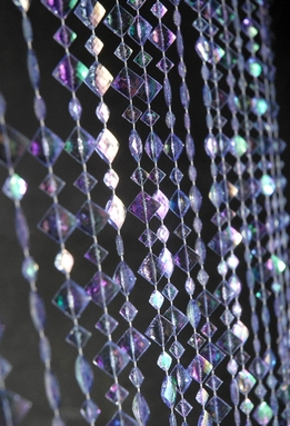 Crystal Beaded Curtain Iridescent Violet Purple (23 garlands)