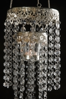 Crystal Candle Holder Chandelier 24 in.