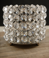 Crystal Candle Holder & Wine Bottle Holder