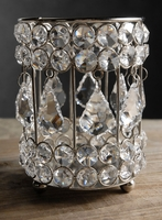 "Crystal Candle Votive Holders 5.5"" Glass"