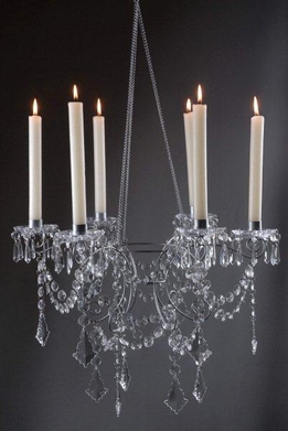 Crystal Chandeliers holds 6 Candles