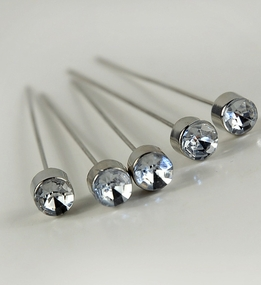 Crystal Corsage Pins 3 in. (5 pins/pkg )