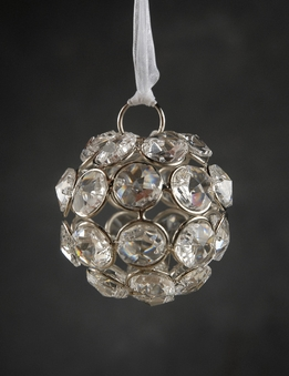 Crystal Diamond Hanging 2 in. Glass Balls