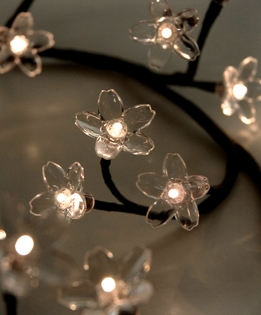 Crystal Flower LED Branch Garland | Warm White