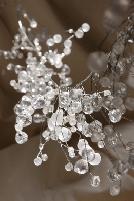 Wired Crystal Garland 42in