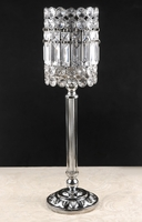 Crystal Pedestal Candle Holders