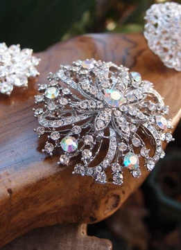 Crystal Pins and Brooches