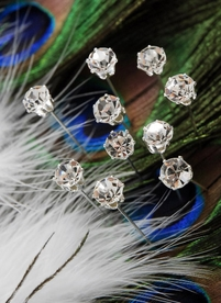 Crystal Corsage Pins 2in (Pack of 10)