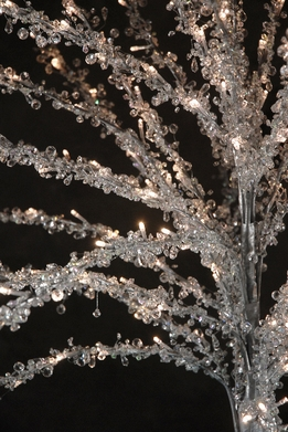 LED Lighted Crystal Tree 7.5ft