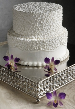 Crystal Wedding Cake Stand 14in Square