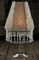 Wine Glass Lampshade with Crystals