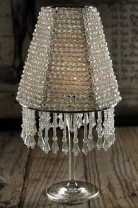 Crystal Wine Glass Lampshade Luminarias Op_ra