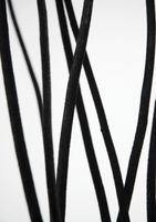 Curly Willow Branches Black Velvet Covered 4 Feet (10 pieces)