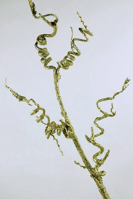 "Curly Willow Branches with Gold Glitter 42"" Artificial"
