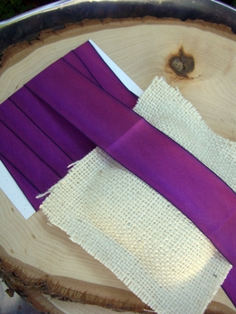 "Custom Dyed Silk Ribbon Purple Magenta 1.5"" width 3 yards"