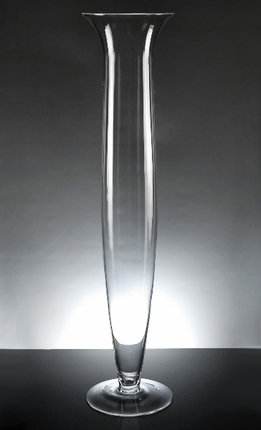 Da Vinci Clear Glass Vase 27-1/4""