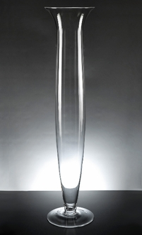 Da Vinci Clear Glass Vase 27-1/4in