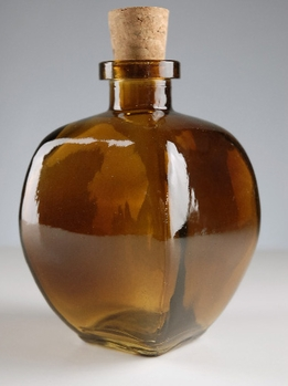 Amber Bottle with Cork 9.3oz
