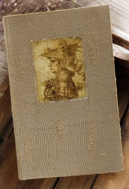 DaVinci Warrior Burlap & Wood Book Box