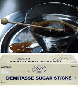 Demitasse Sugar Swizzle Sticks Pure Cane Made in USA (100 sticks)