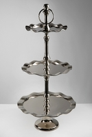3-Tier Metal Dessert Stand 26in