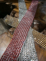 Diamond Ribbon Wrap, Adhesive Rhinestones