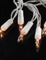 Discount Battery Lights: 10 Battery Operated Lights Clear Bulb /White Wire