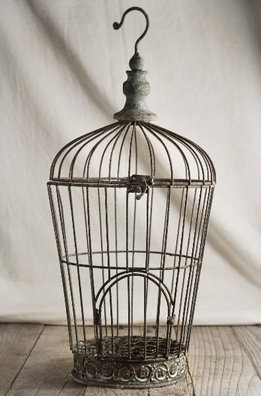 Distressed Wire Birdcage Pompeii 17in
