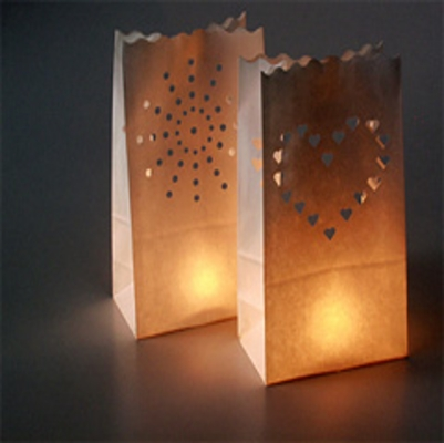 DIY  Creating Paper Bag Luminarias