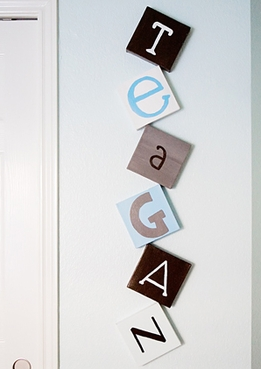 "DIY: Decorating with Letters on Stretched Canvas ""Teagan's Nursery"""