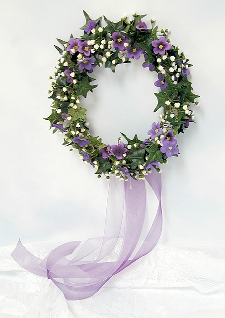 DIY How to make a bridal wreath    - Click to enlarge