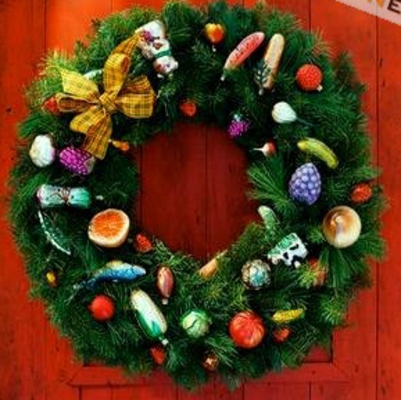 DIY How to make a  Christmas Charm Wreath