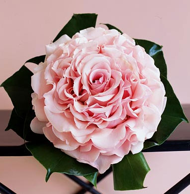 DIY  How to make a  Single Flower Wedding Bouquet or Wedding Nosegay - Click to enlarge