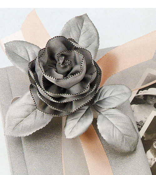 DIY: How to make ribbon roses - Click to enlarge