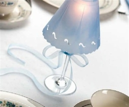DIY: How to make wine glass candle lamps