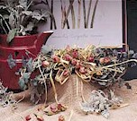 DIY Make a swag of eucalyptus & dried rose buds
