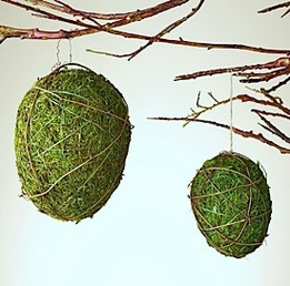 DIY Make Moss Covered Easter Egg Decorations