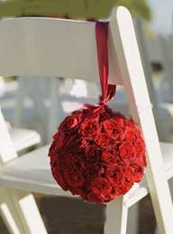 DIY  Making Flower Rose Balls - Click to enlarge