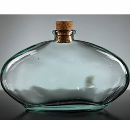 Egyptian Oval Glass Bottle 15.2 oz