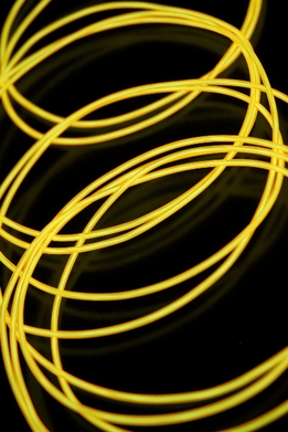 El Wire Lights Yellow | 2.2mm | 30 Ft