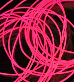 El Wires Pink 2.2mm Battery Operated 30 Feet