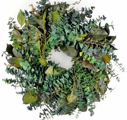 Eucalyptus Wreaths Preserved- Mountain Creek 17""