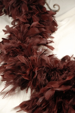 Feather Boas Rich Chocolate Brown Chandelle 80 gram