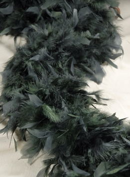 "Feather Boas Thick Gray Green Boas (9"" Width) Chandelle 80 gram"