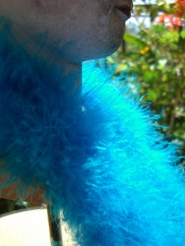 Feather Boas Turquoise Blue Marabou 15 gram 6 foot